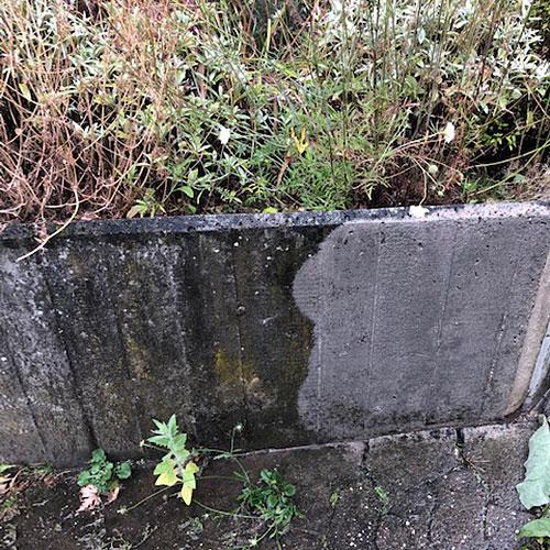 Mauerwerk reinigen mit Höchstdruckwasserstrahlen